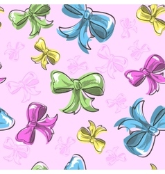 Bow Seamless Background vector image