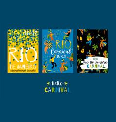 brazil carnival templates for carnival vector image