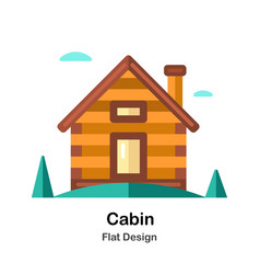 Cabin flat icon vector