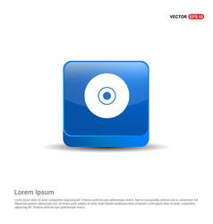 cd or dvd icon - 3d blue button vector image