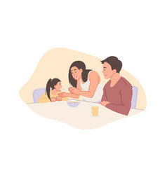 Childhood and parenthood concept vector