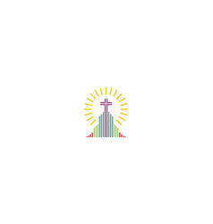 church cross religious logo icon vector image