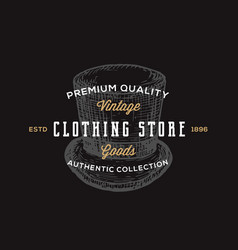 clothing store retro typography abstract vector image