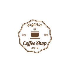 coffee shop vintage logo design inspiration vector image