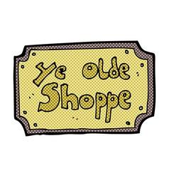 Comic cartoon old fake shop sign vector
