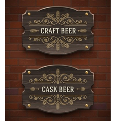 Crafr beer vintage signboard vector image