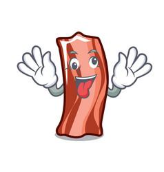 Crazy ribs mascot cartoon style vector