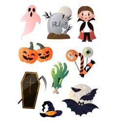 different items in order to perfectly celebrate vector image