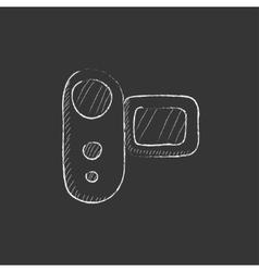 Digital video camera Drawn in chalk icon vector image
