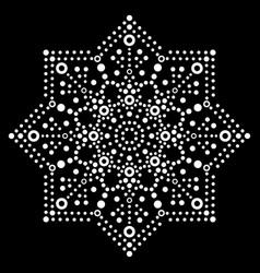 Dot art snowflake design - christmas vector