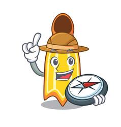 explorer swim fin mascot cartoon vector image