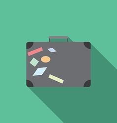 flat design modern traveling bag icon with long vector image