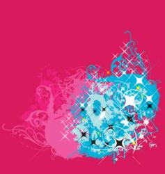 graphic background with stars vector image vector image