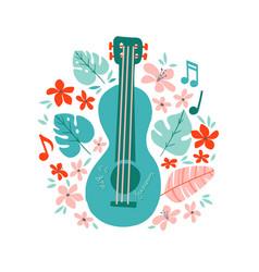 guitar flat hand drawn vector image