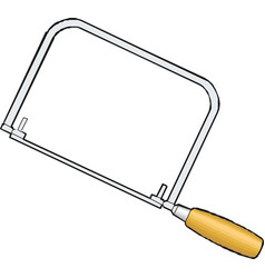 hacksaw with black handle isolated on white hand vector image
