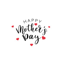 Happy mothers day calligraphy text with mini red vector