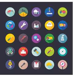 Industrial and construction flat icons vector