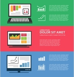 Infographics with computers vector image