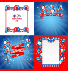July fourth frames vector