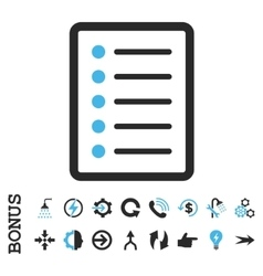 List Page Flat Icon With Bonus vector image