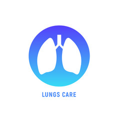 lung human icon respiratory system healthy lungs vector image