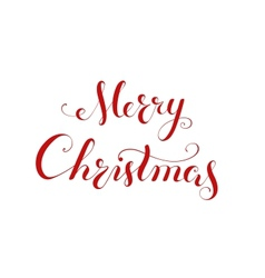 Merry Christmas handwriting lettering vector