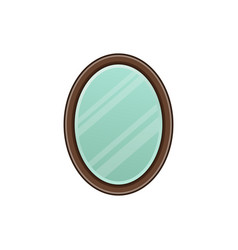 mirror icon in flat design vector image