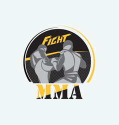 mixed martial arts vector image