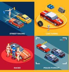 Motor racing design concept vector