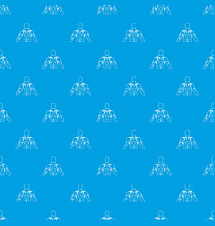 Muscular man with tattoo pattern seamless blue vector