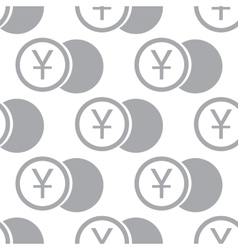 New Yen coin seamless pattern vector image