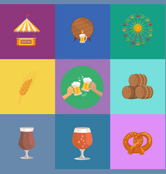 octoberfest beer and food vector image