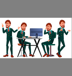 Office european worker adult business male vector