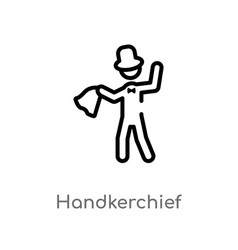 Outline handkerchief icon isolated black simple vector