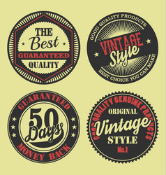 pastel color vintage labels collection 5 vector image
