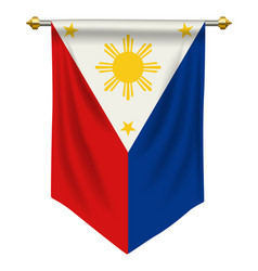 Philippines pennant vector
