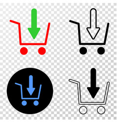 Put shopping item eps icon with contour vector