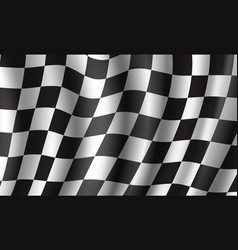 Racing flag 3d background for race sport design vector