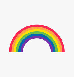 rainbow flat icon vector image