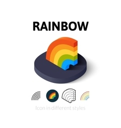 Rainbow icon in different style vector image