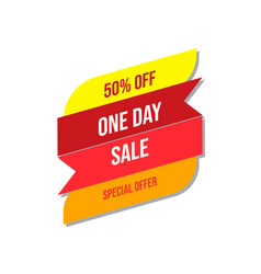 sale special offer banner template design vector image