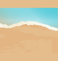 Sand and surf vector