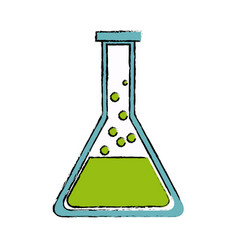 School test tube glass science laboratory vector
