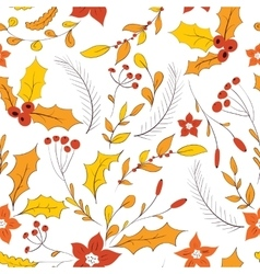 Seamless autumn garden pattern vector