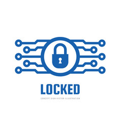 security lock - concept business logo vector image
