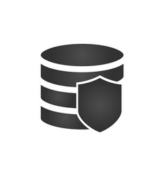 security shield and database icon on white vector image