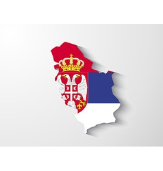 Serbia map with shadow effect presentation vector