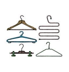 Set coat hanger vector