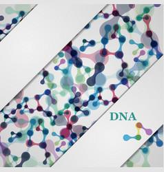 Set digital backgrounds for dna molecule vector