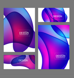 set fluid color covers vector image